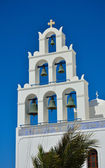 Traditional church with bells on Santorini, Greece. — Stock Photo