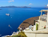 View of the Aegean Sea near the island of Santorini. — Stock Photo