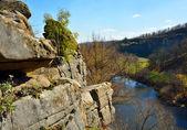 вид на каньон в осень — Стоковое фото