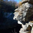 Rock like a stone face, Canyon View — Stock Photo