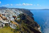 The traditional architecture of Santorini, sea view. — Stock Photo