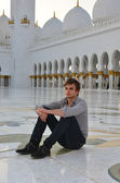 Young man in the mosque — Foto Stock