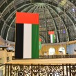 UAE national flags at the mall, Dubai — Stock Photo