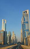 Cityscape, Metro, Dubai — Stock Photo
