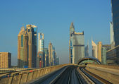 Cityscape, Metro, Dubai — Stock Photo