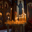 Candles in the Orthodox Church — Stock Photo