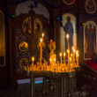 Candles in the Orthodox Church — Stock Photo #39332339