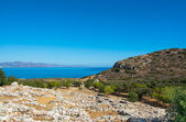 View of the ruins by the sea in Greece — Stock Photo