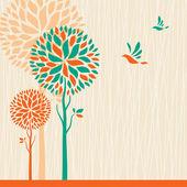 Soyut ağaçlar arka plan. — Stok Vektör