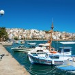 Greek fishing boats in Sitia. — Stock Photo #42488665
