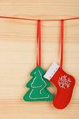 Handmade Christmas decorations — Stock Photo