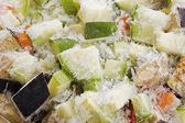 Frozen vegetable mix — Stock Photo