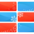 Set of winter and Christmas background themes — Stock Vector