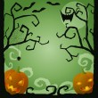 Halloween scene — Stock Vector