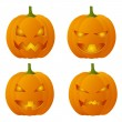 Creepy Halloween pumpkins — Stock Vector