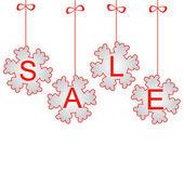 Diseño para la venta de invierno y la navidad — Vector de stock