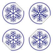 Set of snowflake stickers — Stock Vector