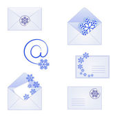 Mail for winter and Christmas — Stock Vector