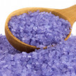 Sea salt enriched with lavender oil — Stock Photo