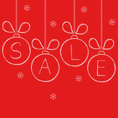 Design for winter and Christmas sale in doodle style — Cтоковый вектор