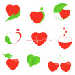 Set of hearts icons — Stock Vector #38599153