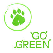 Go Green! — Vector de stock