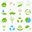 Eco friendly icons set — Stock Vector
