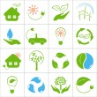 Eco friendly icons set — Stock Vector #45922647
