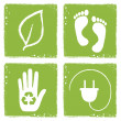 Eco icons in grunge style — Stock Vector #45922663