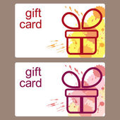 Gift cards templates — Stock Vector