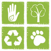 Eco friendly icons — Stock Vector