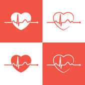 Cardiogram icons — Stock Vector