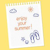 あなたの夏を楽しむ — ストックベクタ