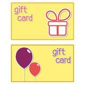 Plantillas de la tarjeta de regalo — Vector de stock