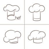 Chef's hats — Stockvektor