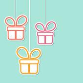 Cajas de regalo — Vector de stock