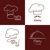 Restaurant menu icons — Stock Vector