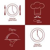 Restaurant menu icons — Stock Vector