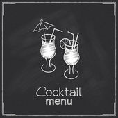 Cocktail menu design — Stock Vector