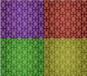 4 renkli duvar kağıtları — Stok Vektör