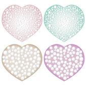 Pearl hearts — Stock Vector