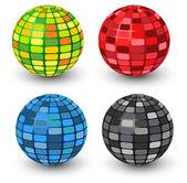 Takım mozaik küreler — Stok Vektör