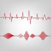 Cardio-seamless — Stock Vector