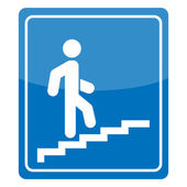 Man on Stairs going up — Stock Vector