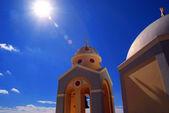White-blue Santorini , Greece — Stock Photo