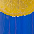 Lemon on a blue background — Stock Photo