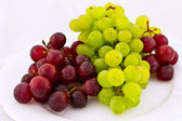 White and red grapes — Stock Photo