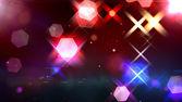 Gloeien zeshoeken, bokeh, cool abstracte zeshoeken, levendige backgro — Stockfoto