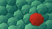 Umbrella, leader, unique, boss, individuality, original, special — Stock Photo
