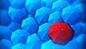 Capo, unico, capo, individualità, ombrello, originale, speciale — Foto Stock
